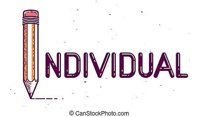 vecteur, personnalité, ou, conceptuel, concept, affiche, ...