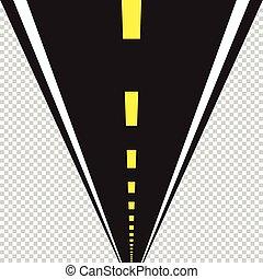 vecteur, perspective, route, illustration.