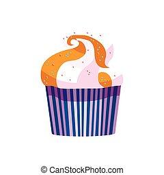 vecteur, petit gâteau