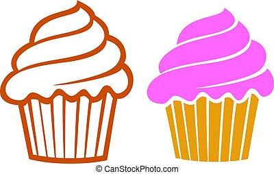 vecteur, petits gâteaux, illustration