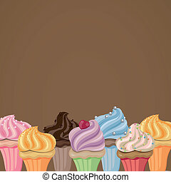 vecteur, petits gâteaux