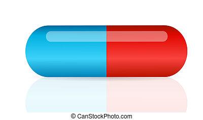 vecteur, pilule, illustration, icône