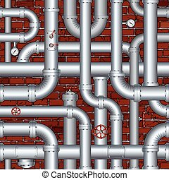 vecteur, pipeline, industriel, seamless