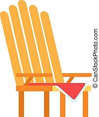 vecteur, pique-nique, icône, fauteuil, plat, isolé
