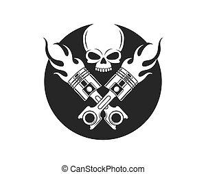 vecteur, piston, conception, icône, illustration