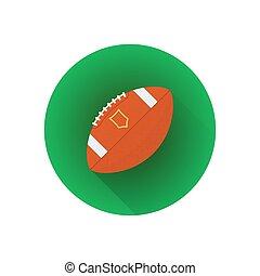 vecteur, plat, américain, balle, football