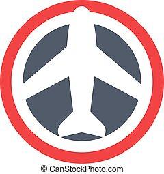 vecteur, plat, avion, illustration, icône
