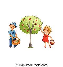 Ensemble jardin ferme remplir l gume vert carottes - Ensemble jardin enfant ...