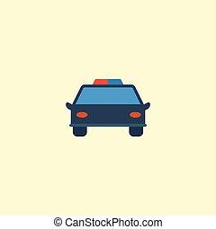 vecteur, plat, utilisé, police, être, automobile, isolé, illustration, police, arrière-plan., symbols., boîte, propre, voiture, element., icône