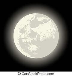 vecteur, pleine lune