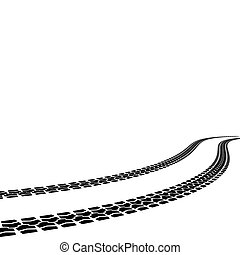 vecteur, pneu, illustration, caractères