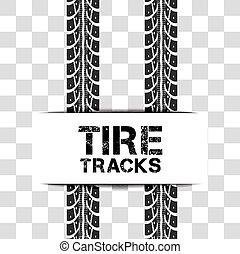 vecteur, pneu traque