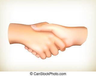 vecteur, poignée main