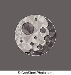 vecteur, polygone, lune