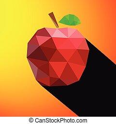 vecteur, pomme, illustration
