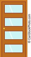 vecteur, porte, isolé, illustration.