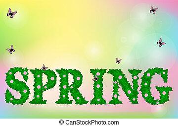 vecteur, printemps