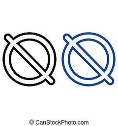 vecteur, prohibition, icône