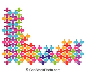 vecteur, puzzle, concept, illustration