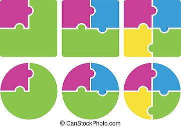 vecteur, puzzle., illustration.