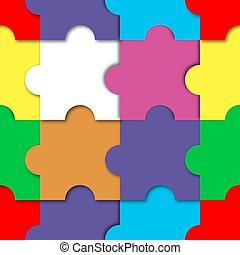 vecteur, puzzle, illustration., seamless, modèle