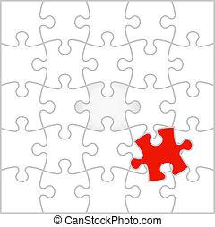 vecteur, puzzle, puzzle, fond, illustration