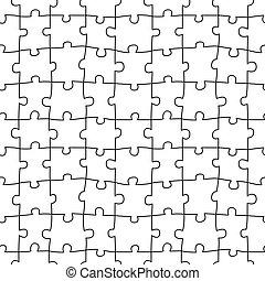 vecteur, réaliste, modèle, puzzle, illustration