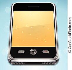 vecteur, réaliste, téléphone portable