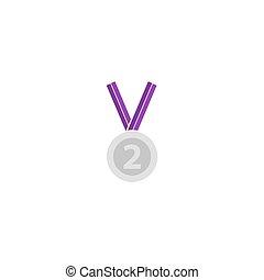 vecteur, récompense, icône
