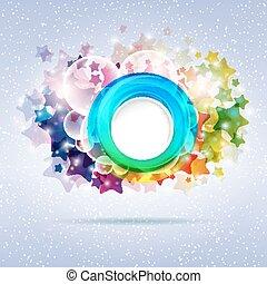 vecteur, résumé, étoile, coloré, illustration., arrière-plan.