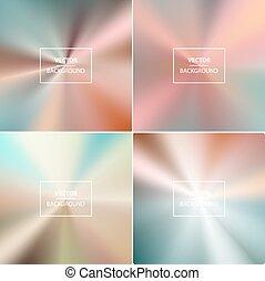 vecteur, résumé, coloré, backgrounds., brouillé
