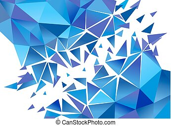 vecteur, résumé, polygone, arrière-plan.