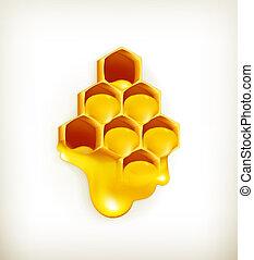 vecteur, rayon miel