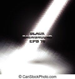 vecteur, rayons légers, arrière-plan noir