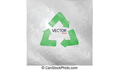 vecteur, recyclé, papier, illustration