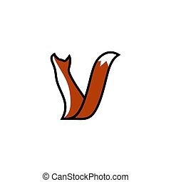 vecteur, renard, illustration