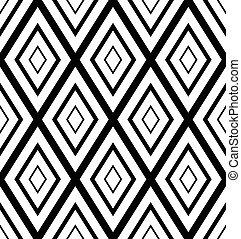 vecteur, rhombs, modèle, arrière-plan., repeatable, diamants, art.