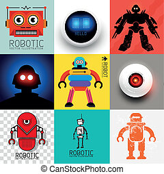 vecteur, robot, collection