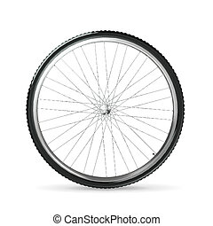 vecteur, roue bicyclette