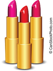 vecteur, rouges lèvres, illustration