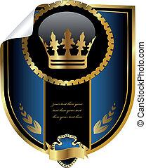 vecteur, royal, étiquette