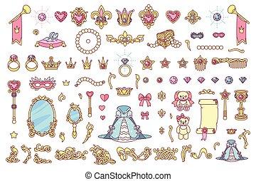 vecteur, royal, bijouterie, collection
