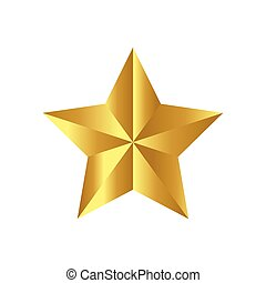 vecteur, ruban, fond, icône, isolé, étoile, noël blanc, symbole, illustration, design.