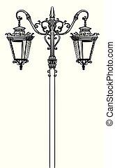 vecteur, rue, lamp-4