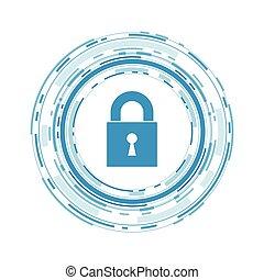 vecteur, sécurité, concept, cyber