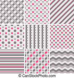 pastel tiling seamless motifs vecteur joli swatch clipart vectoriel rechercher. Black Bedroom Furniture Sets. Home Design Ideas