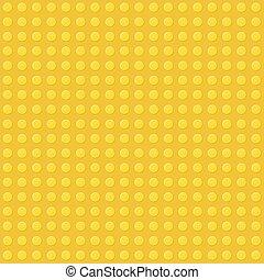 vecteur, seamless, jaune, plastique, construction, fond, block.