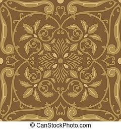 motifs mod le seamless foliate arabesque orn lourd tissu reprise motifs mod le. Black Bedroom Furniture Sets. Home Design Ideas