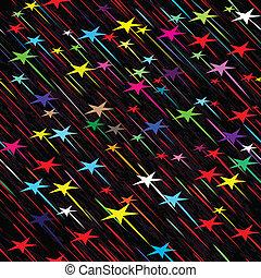 vecteur, seamless, pluie, temps, illustration, fond