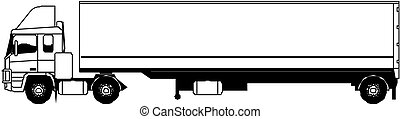 vecteur, semi-camion